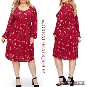 ‼️CLOSING LOVE AND LEGEND RED FLORAL SWING DRESS